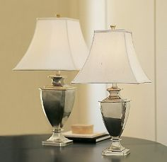 Riley Urn Lamps Antique Silver Plate