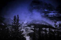 mystic mountain shot in banff