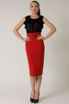 High Waisted Business Skirt - Redskirtz