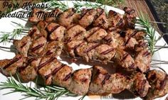 Pork Kebabs - Spiedini di Maiale marinated then grilled.