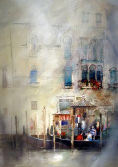 art john, arti stuff, venic, lovett watercolor, artist, john lovett, bold colors, illustr, italy painting