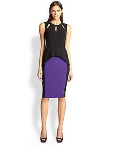 Black Halo Milano Colorblock Dress