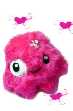 Fluse :Kawaii Kuschel Monster  Pinky Plüsch