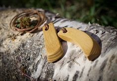 Wooden pendant Wooden necklace Solid wood pendant Wooden