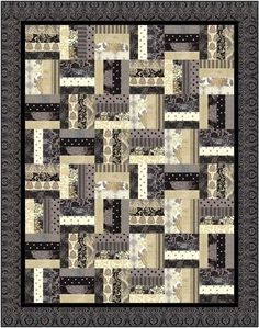 Jelly Roll Railfence Quilt