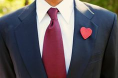 groom heart buttonhole
