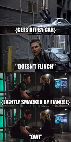 #Olicity and they never seem to get hurt. Maybe every once and a while but usually never