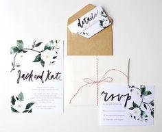 Eine üppige, floral Hochzeit Einladung Suite, ideal für die Braut, die auf der Suche nach einer Fett- und romantische Hochzeitseinladung.   Dieses #weddinginvitation