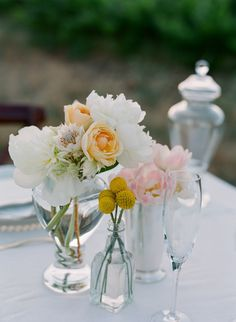 gorgeous flowers.  Simple / delicate and romantic.  we don't use a lot of flowers, but makes it look elegant.  will this save on costs?
