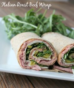 Italian Roast Beef Wrap 167 calories and 5 Weight Watchers Smart Points. Easy no cook make-ahead lunch recipe