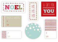 Free printables christmas label/tag