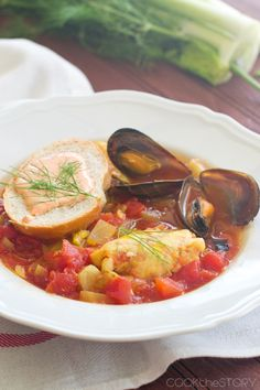 Recipe for Bouillabaisse with Rouille Sauce - This French fish stew makes a delicious dinner, and it's homemade in just 15 minutes!