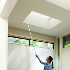 Skylight shades allow you to control the light and heat that enters your home. A skylight pole allows you to adjust shades without pulling out the ladder.