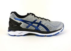 Asics men's Gel-Kayano 23 running shoes sneakers trainers Silver Imperial Black #ASICS #RunningCrossTraining