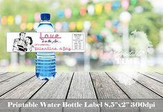 Valentine's Day water bottle label Valentine's Day