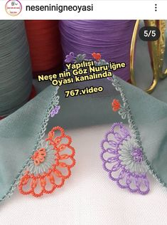 Embroidery Jewelry, Crewel Embroidery, Bargello, Baby Knitting Patterns, Origami, Diy And Crafts, Crochet Earrings, Crochet Hats, Lace