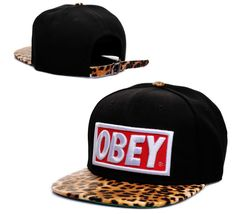 OBEY Snapback Hats Caps Black 1719