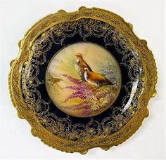 ANTIQUE LIMOGES PORCELAIN HAND PAINTED GAME PLATE
