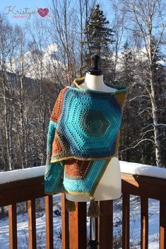 Hexagon Medley Crochet Wrap - Kristyn Crochets