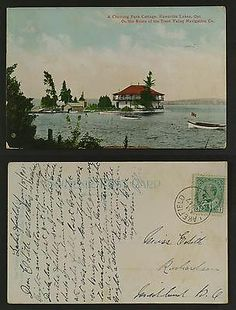 A Chemong Park Cottage, Kawartha lakes Ontario postmarked Lakefield Peterborough Ontario, Peter Robinson, Stony, Local History, Lakes, Vintage World Maps, Canada, Cottage, Fan