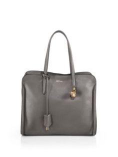 ALEXANDER MCQUEEN Padlock Satchel. #alexandermcqueen #bags #leather #lining…