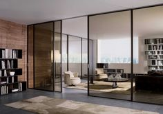 Home and Car Window Glass Tinting Lobby Interior, Interior Barn Doors, Interior Architecture, Living Room Modern, Home And Living, Bachelor Room, Door Design, House Design, Smart Glass