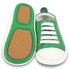 Groene schoenen met witte veters - Old Soles
