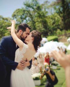 Danielle Rossi Photography  The kiss  Wedding day  Beijo  Casamento ao ar livre