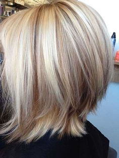 """Bob Inversé Long Points forts Blonde Angle """"width ="""" 450 """"height ="""" 599"""