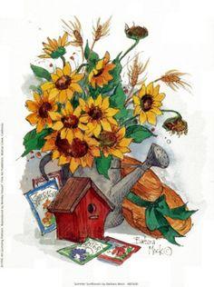 by Barbara Mock http://www.bandagedear.com/image/view/summer-sunflowers-by-barbara-mock-67317