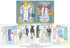 Fashion Icons Princess Diana and Jacqueline Kennedy Paper Dolls : David Wolfe