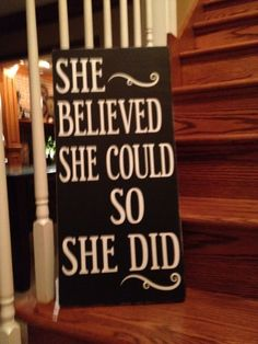 New She Believed She Could So She Did Word Art by TheWordSister, $35.00
