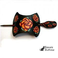 Handcrafted Rose Hair Pin/Shawl Pin/Scarf Pin