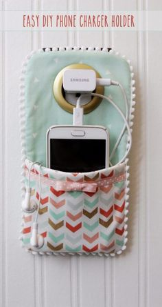 Best Sewing Projects to Make For Girls - Easy DIY Phone Charger Holder - Creative Sewing Tutorials for Baby Kids and Teens - Free Patterns and Step by Step Tutorials for Dresses, Blouses, Shirts, Pants, Hats and Bags - Easy DIY Projects and Quick Crafts Ideas diyjoy.com/...