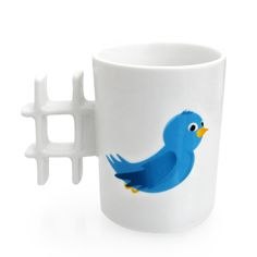 Tweet Mug, A Twitter-Inspired Drinking Mug.  Looks like something @Stephanie Kun would like?  :)