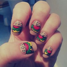 Hamburger Nails