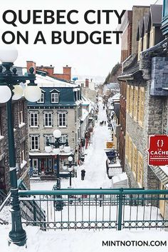 Guide to visiting Quebec City, Canada on a budget. As a popular honeymoon destination, visiting Quebec City on a budget may seem impossible at first glance. While many of its hotels and restaurants are some of the most expensive in the province, there are a variety of affordable ways to visit this picturesque city. Click through to find out the best ways to visit Quebec City for cheap.