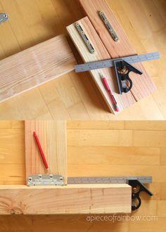 Woodworking T Shirts Info: 6145583397 Diy Bed Frame Plans, Diy King Bed Frame, Bed Frame And Headboard, Wood Headboard, Fabric Headboards, Upholstered Headboards, Easy Woodworking Projects, Diy Projects, Woodworking Plans