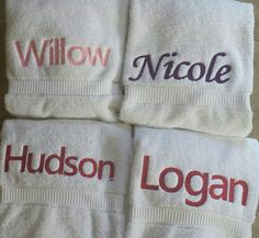 Towels embroidered for customer