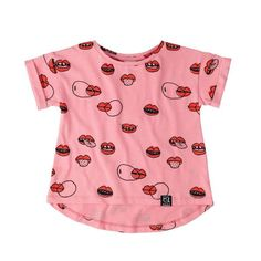 Kukukid Pink Lips T-Shirt - Online kids store A Little Bit of Cheek