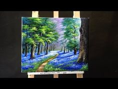 Bluebells in the New Forest - Acrylic lessons - YouTube