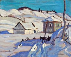 Group of seven Group Of Seven Art, Group Of Seven Paintings, Paintings I Love, Emily Carr, Canadian Painters, Canadian Artists, Winter Painting, Winter Art, Landscape Paintings
