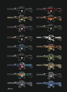 My collection of all M4A1's - [Pixel ART] DONE! What collection should I make next?
