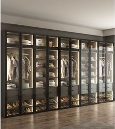dress Room house - LED Lighting Dress Closet, Armoire with Glass Door / Bespoke Fitted Dressing Room Wardrobe Room, Wardrobe Design Bedroom, Closet Bedroom, Fitted Wardrobe Design, Luxury Bedroom Design, Walk In Closet Design, Closet Designs, Master Closet Design, Cheap Wardrobes