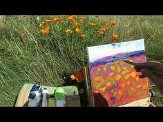 Palette Knife painting   Californian poppies - Enpleinair