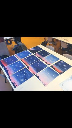 Astronomy - Space and Astronomy Astronomy Crafts, Space And Astronomy, Wet On Wet Painting, Painting For Kids, Seventh Grade, Sixth Grade, Chalkboard Drawings, Geometric Drawing, Waldorf Education