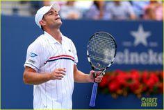 Andy Roddick in his last match