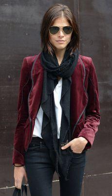 burgundy velvet jacket. Just got one!