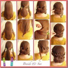 tutoriales peinados - Buscar con Google Hair And Nails, Braided Hairstyles, My Hair, Hair Makeup, Braids, Hair Beauty, Make Up, Hair Styles, Beautiful Hairstyles