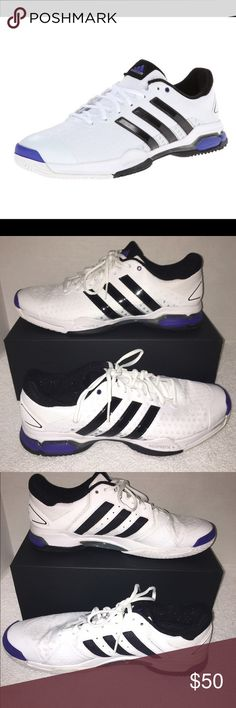 Adidas Barricade Team 4 Men's Tennis Shoes Adidas Barricade Team 4 Men's White/Black Tennis Shoe Size 13 Adidas Shoes Sneakers